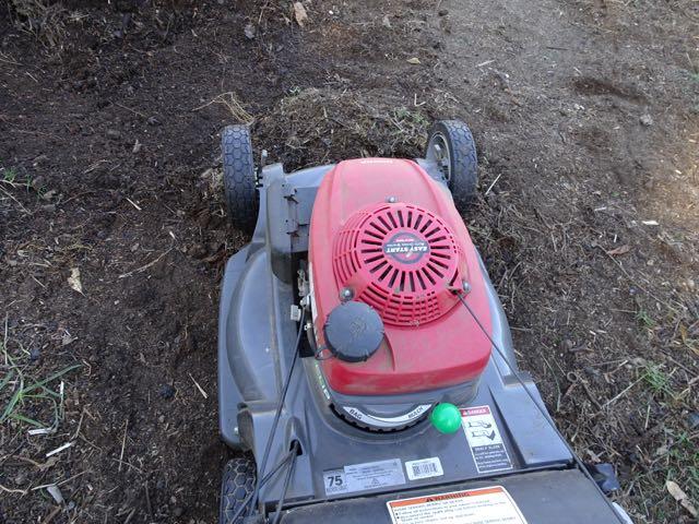 Mower on mulching